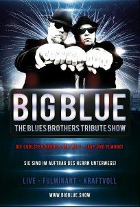 Buchen Sie Deutschlands No.1 Blues Brothers Act! Big Blue = LIVE GESANG mit Ausdruck und Leidenschaft! Alle großen Hits: Everybody needs somebody, Soul man, uvm. Elwood Blues (George Le Smoo) & Jake Blues (King Eddy)